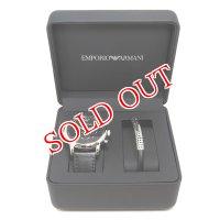 エンポリオ アルマーニ クロノ クオーツ メンズ 腕時計 ブレスレット セット AR8029