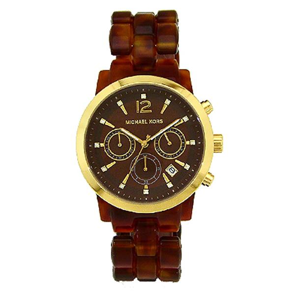 マイケルコース MICHAELKORS クオーツ クロノ レディース 腕時計 MK6235 ブラウン                                    [MK6235]