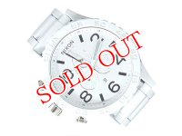 ニクソン NIXON 51-30 CHRONO クオーツ メンズ クロノ 腕時計 A083-1255 ALL WHITE/SILVER