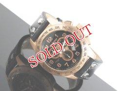 画像1: J.HARRISON ジョンハリソン クロノグラフ 腕時計 JH013-PGBK