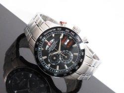 画像1: J.HARRISON ジョンハリソン クロノグラフ 腕時計 JH-090BB