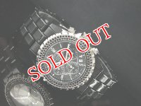 J.HARRISON ジョンハリソン メンズ クロノグラフ 腕時計 JH005-BBK