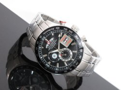 画像1: J.HARRISON ジョンハリソン クロノグラフ 腕時計 JH-090BS