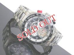 画像1: J.HARRISON ジョンハリソン 腕時計 手巻き オートマタ JH-006H-BW