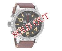 NIXON 腕時計 51-30 クロノグラフ メンズ A124-019 ブラック×ブラウンレザーベルト