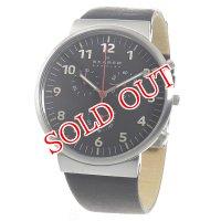 スカーゲン SKAGEN アンカー クロノ クオーツ メンズ 腕時計 SKW6100 ブラック