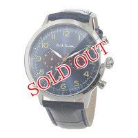 ポールスミス PAUL SMITH クロノ クオーツ メンズ 腕時計 P10012 ブルー