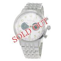ポールスミス PAUL SMITH クロノ クオーツ メンズ 腕時計 P10016 ホワイト