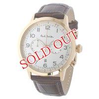 ポールスミス PAUL SMITH プレシジョン クロノ クオーツ メンズ 腕時計 P10015 ホワイトシルバー