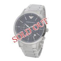 エンポリオ アルマーニ クオーツ クロノ メンズ 腕時計 AR2486 ブラック