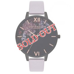 画像1: オリビアバートン OLIVIA BURTON 腕時計 AFTER DARK FLORAL ブラック × パープル 38mm レディース OB16AD15