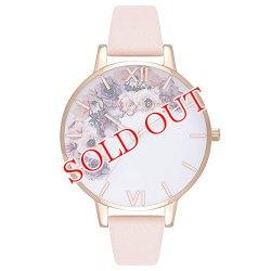 画像1: オリビアバートン OLIVIA BURTON 腕時計 フラワー ローズゴールド ピンク レザー OB16PP30