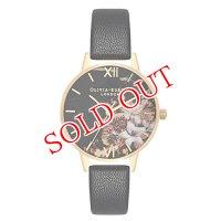 オリビアバートン OLIVIA BURTON 腕時計 レディース 30mm 花柄 フラワー ローズゴールド ブラック レザー OB16CS11