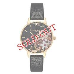 画像1: オリビアバートン OLIVIA BURTON 腕時計 レディース 30mm 花柄 フラワー ローズゴールド ブラック レザー OB16CS11