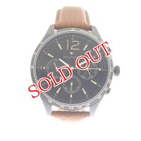 トミーヒルフィガー TOMMY HILFIGER 腕時計 メンズ 1791470 ブラック ブラウン ブラック