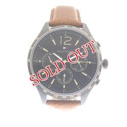 画像1: トミーヒルフィガー TOMMY HILFIGER 腕時計 メンズ 1791470 ブラック ブラウン ブラック
