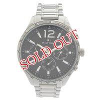 トミーヒルフィガー TOMMY HILFIGER 腕時計 メンズ 1791469 クォーツ ブラック シルバー ブラック