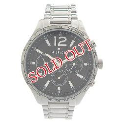 画像1: トミーヒルフィガー TOMMY HILFIGER 腕時計 メンズ 1791469 クォーツ ブラック シルバー ブラック