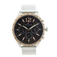 トミーヒルフィガー TOMMY HILFIGER 腕時計 メンズ 1791466 クォーツ ブラック シルバー ブラック