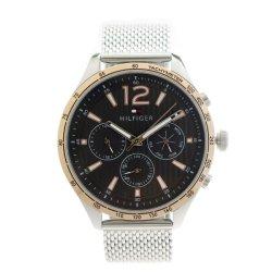 画像1: トミーヒルフィガー TOMMY HILFIGER 腕時計 メンズ 1791466 クォーツ ブラック シルバー ブラック