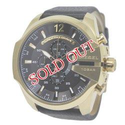 画像1: ディーゼル DIESEL メガチーフ メンズ クオーツ クロノ 腕時計 DZ4344 ブラック ブラック