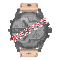 ディーゼル DIESEL 腕時計 メンズ DZ7406 ミスターダディ Mr Daddy クォーツ ガンメタル ライトブラウン