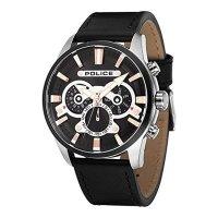 ポリス]POLICE メンズ エスケープ マルチファンクション ブラック レザー PL14834JSTB-02 腕時計