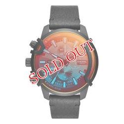 画像1: DIESEL ディーゼル GRIFFED グリフィッド DZ4519 ブラック 腕時計 メンズ