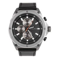 POLICE ポリス コンタクト マルチファンクション 腕時計 PL.14537JSU/02A メンズ ダークブルー文字盤 ブラック レザー 腕時計