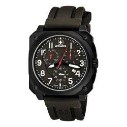 画像1: ウェンガー WENGER エアログラフ コックピット クオーツ メンズ クロノ 腕時計 77011