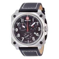 ウェンガー WENGER エアログラフ コックピット クオーツ メンズ クロノ 腕時計 77015