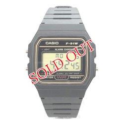 画像1: カシオ CASIO スタンダード デジタルクオーツ 腕時計 F-91WG-9