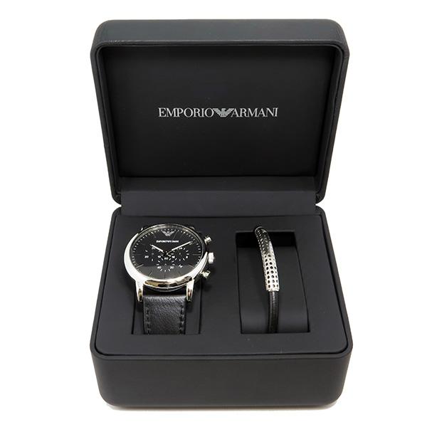 quality design 4d783 ea4ae エンポリオ アルマーニ クロノ クオーツ メンズ 腕時計 ブレスレット セット AR8029