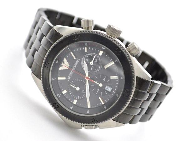 エンポリオ アルマーニ EMPORIO ARMANI 腕時計 AR0547 着用イメージ