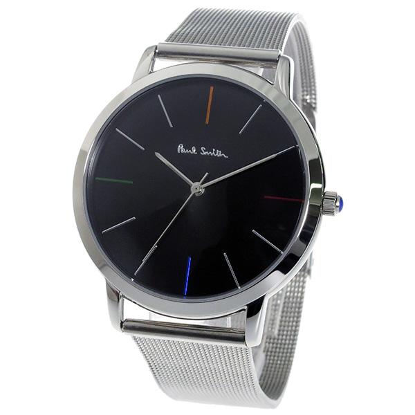 new product 52f3f 5890b ポールスミス PAUL SMITH エムエー MA クオーツ メンズ 腕時計 P10055 ブラック